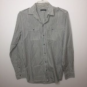 Dolce & Gabbana GOLD line Gray Striped Button Down